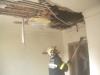 Die Kameraden der FF Gödersdorf bei der erfolgreichen Brandbekämpfung im Wohnhaus