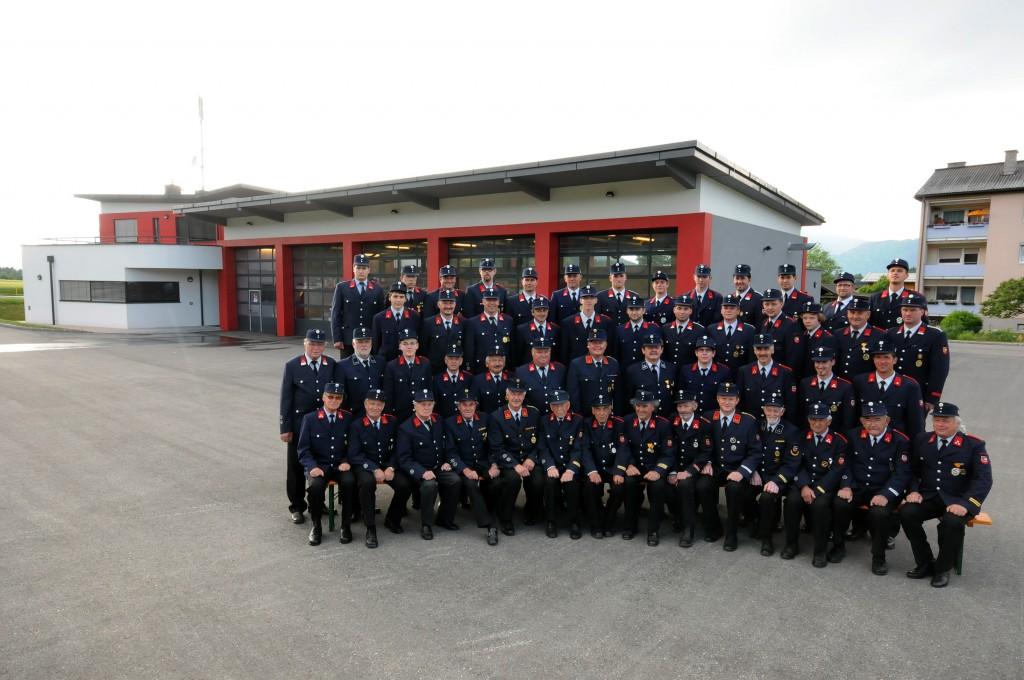 Aktive Mitglieder der Freiwilligen Feuerwehr Gödersdorf