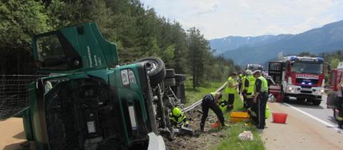 LKW Unfall A2 Richtung Italien